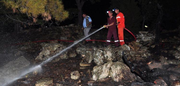 Antalya'da define ararken ormanı yaktılar