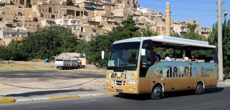 Mardin'de turistlere ücretsiz tur otobüsü tahsis edildi