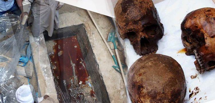 Mısır'da lağım sızan gizemli lahitte altın kullanıldığı anlaşıldı
