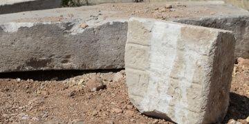 Malatyada park inşaatında tarihi kalıntılar ve Ermenice kitabe bulundu
