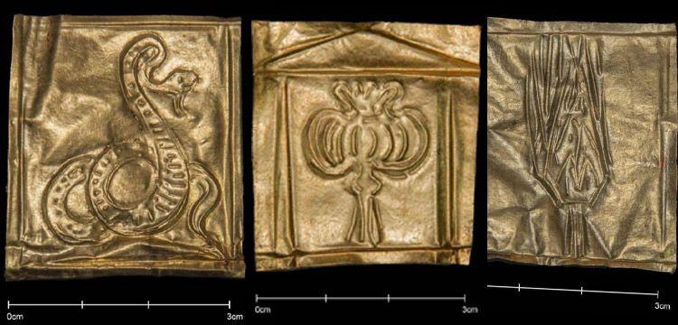 Mısırdaki gizemli mermer lahitte bulunan altın çizimler