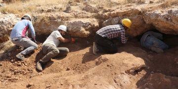 Zerzevan Kalesi kazılarında 1700 yıllık 4 mezar ortaya çıkarıldı
