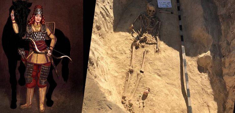 Ukrayna'da İskit kadın savaşçı mezarı bulundu