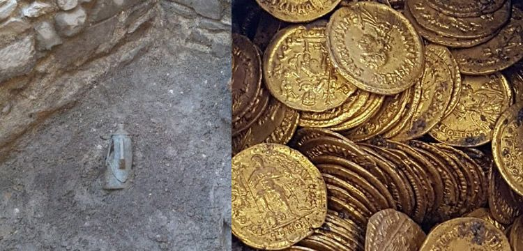 İtalya'da Roma devrinden kalma yüzlerce altın sikke bulundu