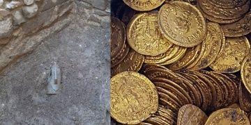 İtalyada Roma devrinden kalma yüzlerce altın sikke bulundu
