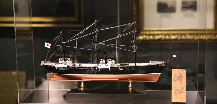 Seiki Japon savaş gemisi maketi Deniz Müzesi'nde