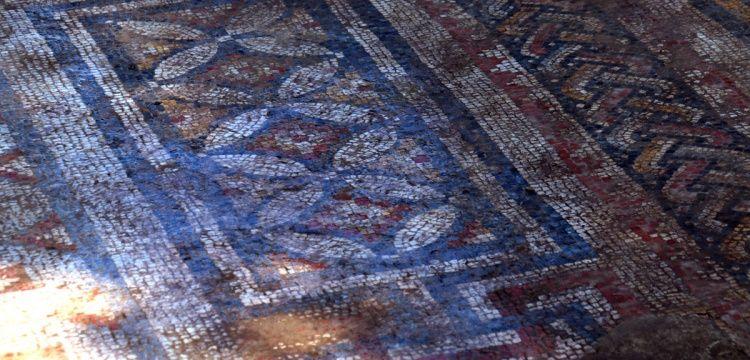 Nysa arkeoloji kazılarında 1600 yıllık taban mozaiği bulundu