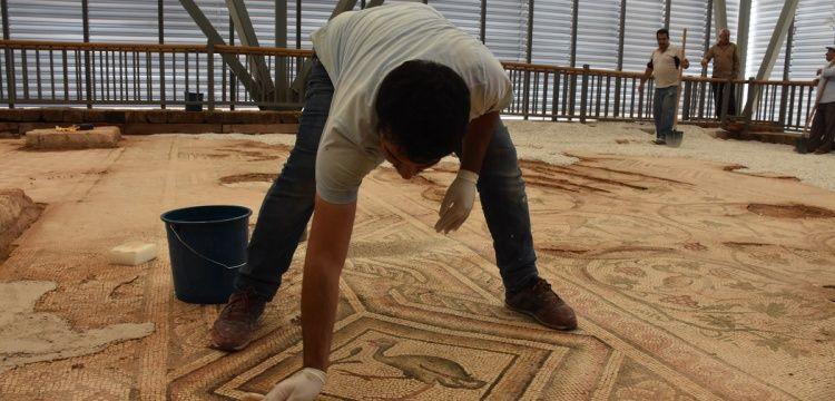 155 metrekarelik Perre mozaiğinin 125 metrekaresi sergilenecek