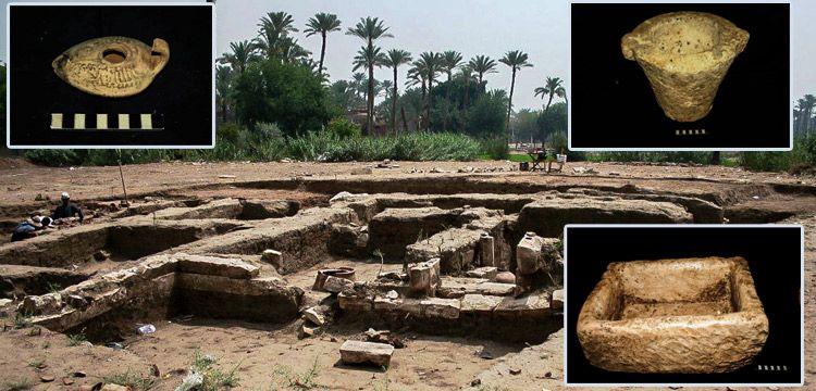 Mısır'da bir tarlada 2 bin yıllık tarihi yapı ve kalıntılar bulundu