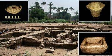 Mısırda bir tarlada 2 bin yıllık tarihi yapı ve kalıntılar bulundu