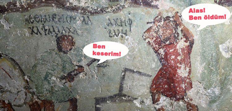 Arkeologlar Ürdün'deki fresklerde antik 'çizgi roman' buldular