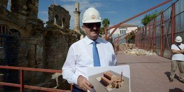 Antalyadaki Kesik Minarenin taşları Kepezden çıkarılıp Afyonda işlenecek