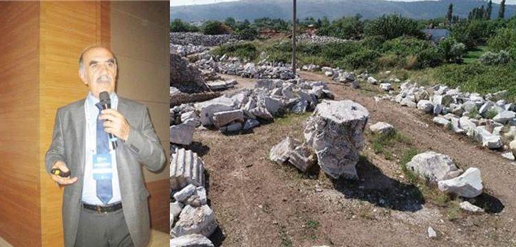 Doç. Dr. Nurettin Koçhan: Defineciler antik kentteki ağacı havaya uçurdu
