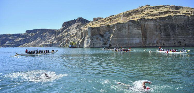 Rumkale'de İkinci Su Sporları Festivali başladı