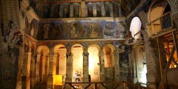 Kapadokyadaki Tokalı Kilisenin görkemli freskleri restore ediliyor