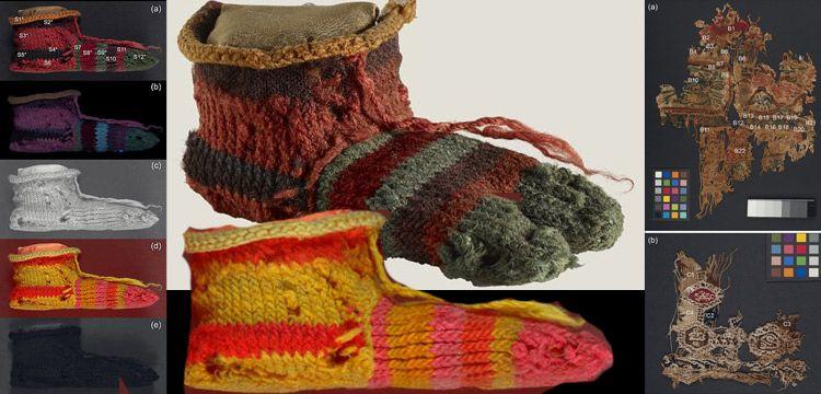 Antik Mısır'da üretilen renkli çocuk çorabı yeni teknikle incelendi
