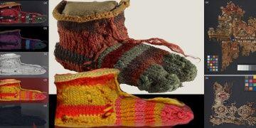 Antik Mısırda üretilen renkli çocuk çorabı yeni teknikle incelendi
