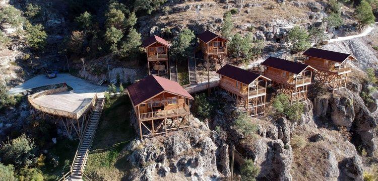 Bolu'da restore edilen 3500 yıllık kaya evlerinin kopyaları otele dönüşüyor