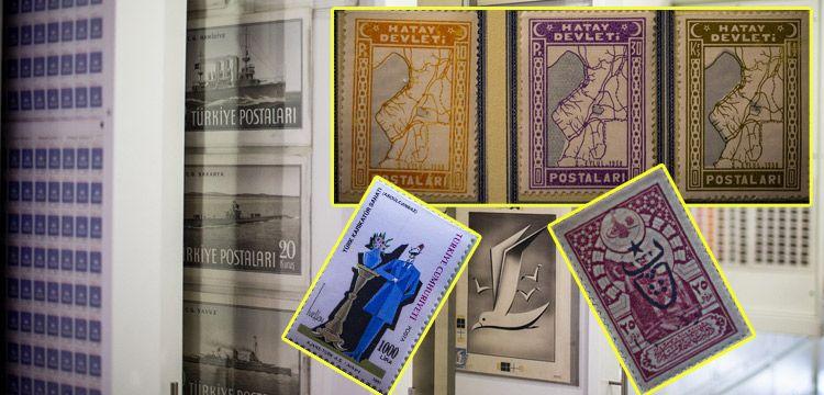 PTT Pul Müzesi'nde tarihi pullar üzerinden okumak mümkün