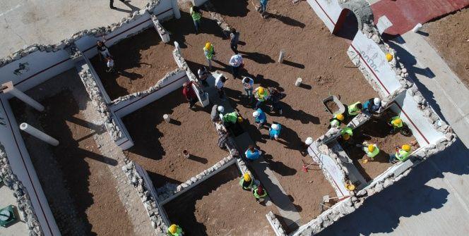 Karamanda MTÜnün suni arkeolojik kazı alanı ve Roma villası