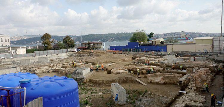 Beşiktaş'ta Üniversite inşaatında arkeolojik kalıntılar bulundu