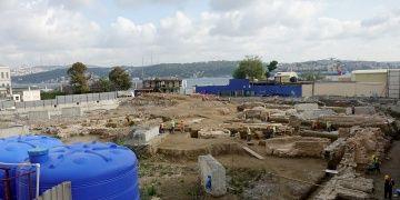 Beşiktaşta Üniversite inşaatında arkeolojik kalıntılar bulundu