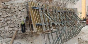 Hasankeyfte su altında kalacak tarihi yapılar güçlendiriliyor