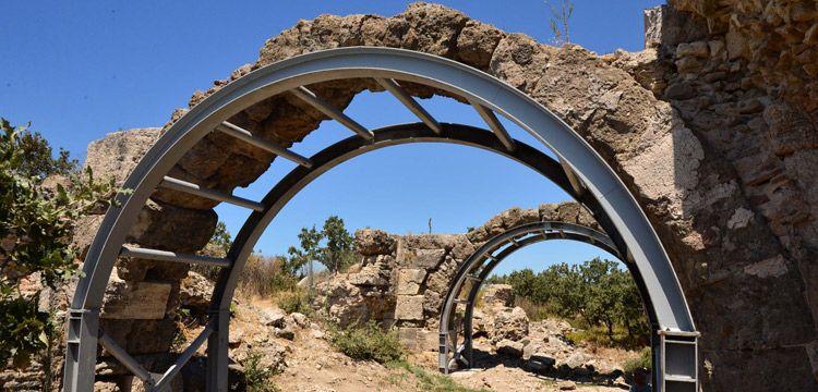 Anadolu'daki en büyük Roma hamamı çelik aksamla kurtarıldı