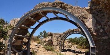 Anadoludaki en büyük Roma hamamı çelik aksamla kurtarıldı
