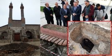 Sivaslılar Çifte Minarede bulunan gizli geçidi görmeye koştu
