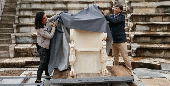 Metropolis antik kentinin soylu koltuğu 200 yıl sonra yerine döndü