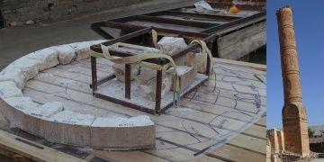 Hasankeyfte tek tek sökülen minare taşları numaralandırılarak taşınıyor