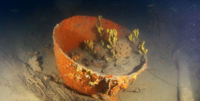 Didimdeki batık gemiden çıkarılan eşyalar