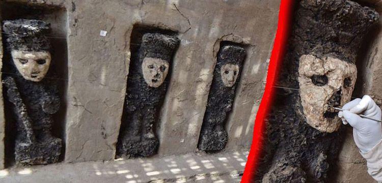Peru'da Chimu Krallığına ait garip ahşap heykeller bulundu