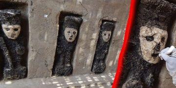 Peruda Chimu Krallığına ait garip ahşap heykeller bulundu