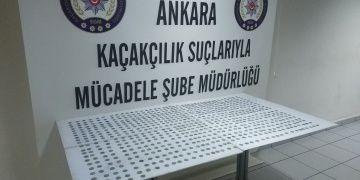 Muğlada görevli imam Ankarada 775 sikke ile yakalandı