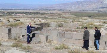 Erzincandaki Altıntepe Kalesi arkeoparka dönüştürülecek