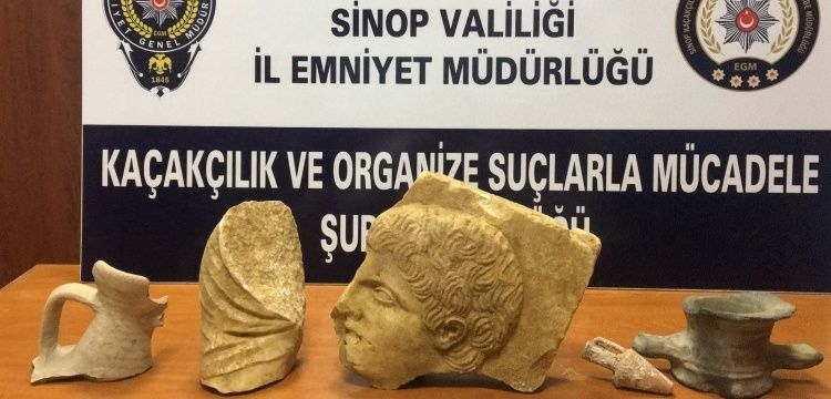 Sinop'ta bir evde Helenistik dönem eserleri yakalandı