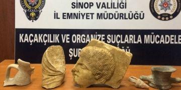 Sinopta bir evde Helenistik dönem eserleri yakalandı