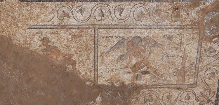 Antalya'daki tuvalet mozaiklerinde müstehcen çizimler bulundu