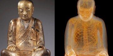 Çinliler içinden keşiş mumyası çıkan Buda Heykelini geri istiyor