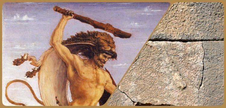 Adıyaman'da Herkül'ün ünlü sopasına ait kabartma bulundu