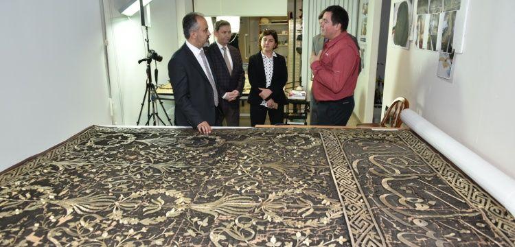 Bursa Konservasyon Atölyesi'nde Kutsal Emanetler restore ediliyor