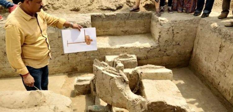 Hindistan'da 4 bin yıllık Savaş Arabası kalıntıları bulundu