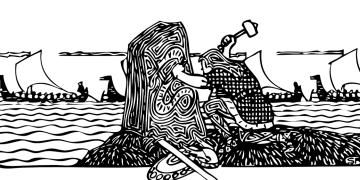 Vikinglerin yükselişinde seri katran üretimi önemli rol oynamış
