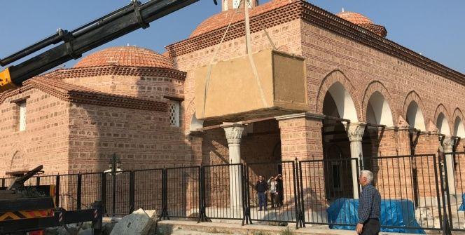 İçinden mumyalanmış 2 beden çıkan lahit İznik müzesine taşındı