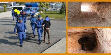 Karamanda 5 defineci kazdıkları 15 metrelik tünelde kıskıvrak yakalandı