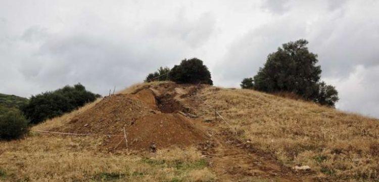 Ödemiş'te keşfedilen 2500 yıllık tümülüsü defineciler soymuş