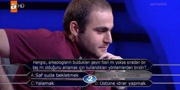 Kim Milyoner Olmak İsterin arkeoloji sorusu yarışmacıyı şaşırttı