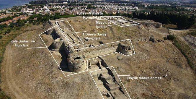 Kuşadasında mescidi ve kilisesi olan kale turizme hazırlanıyor